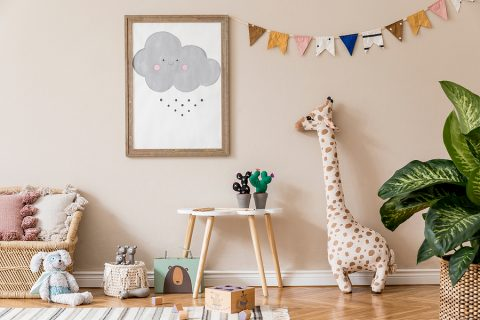 Using Custom Stamps for Decorating Your Kids' Room